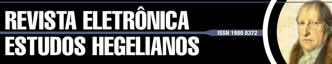 Revista Eletrônica Estudos Hegelianos